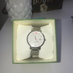 Kate Spade New York Gramercy Grand Silver Watch